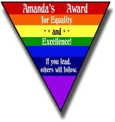 Amanda's Award for Equality and Excellence!